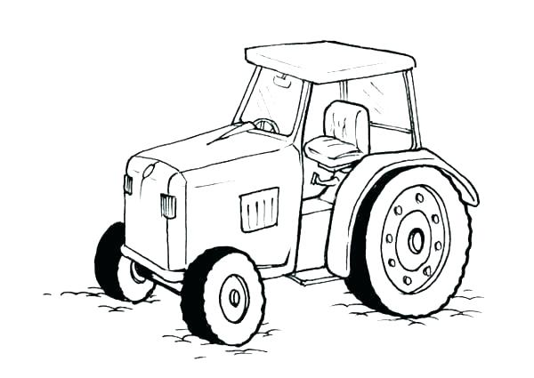 600x425 Coloring Pages Tractors Coloring Home Tractor Coloring A John