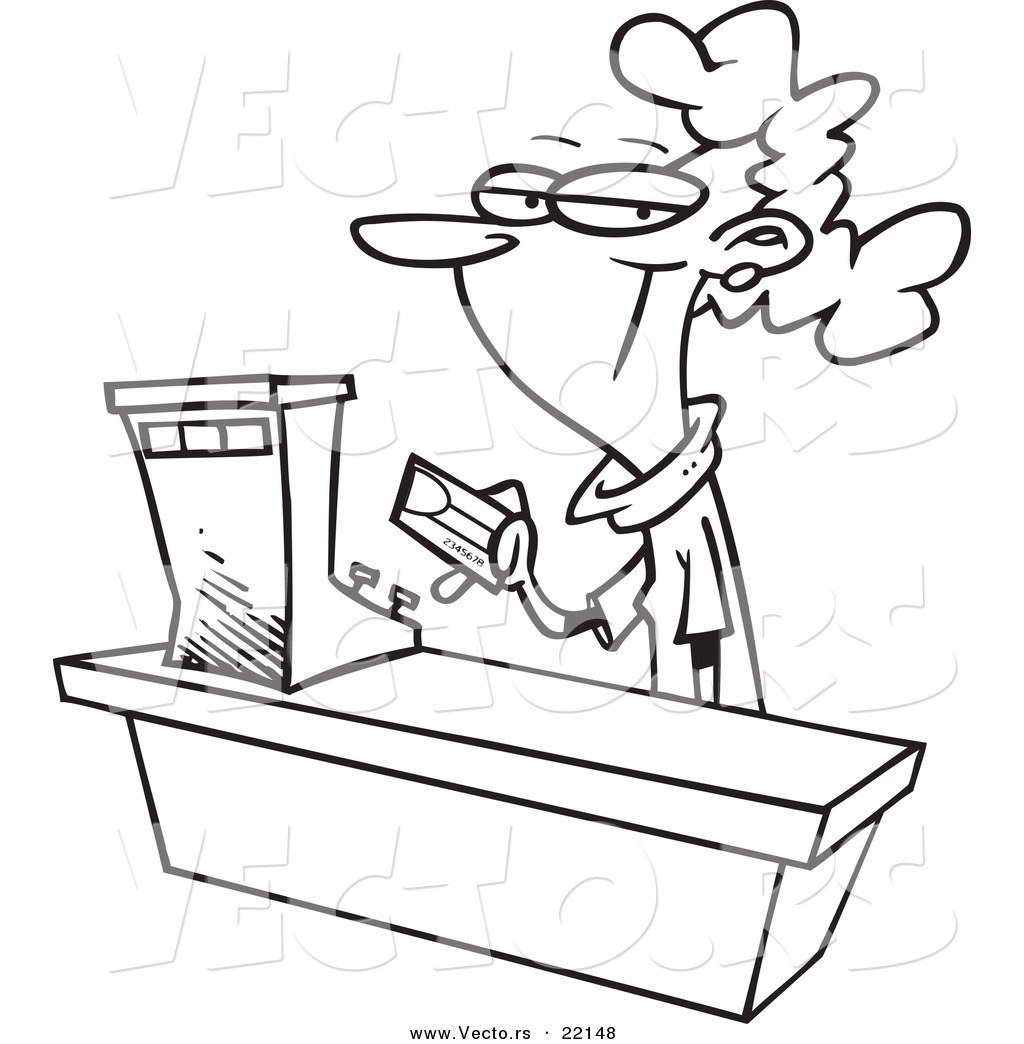 1024x1044 Store Clerk Coloring Page