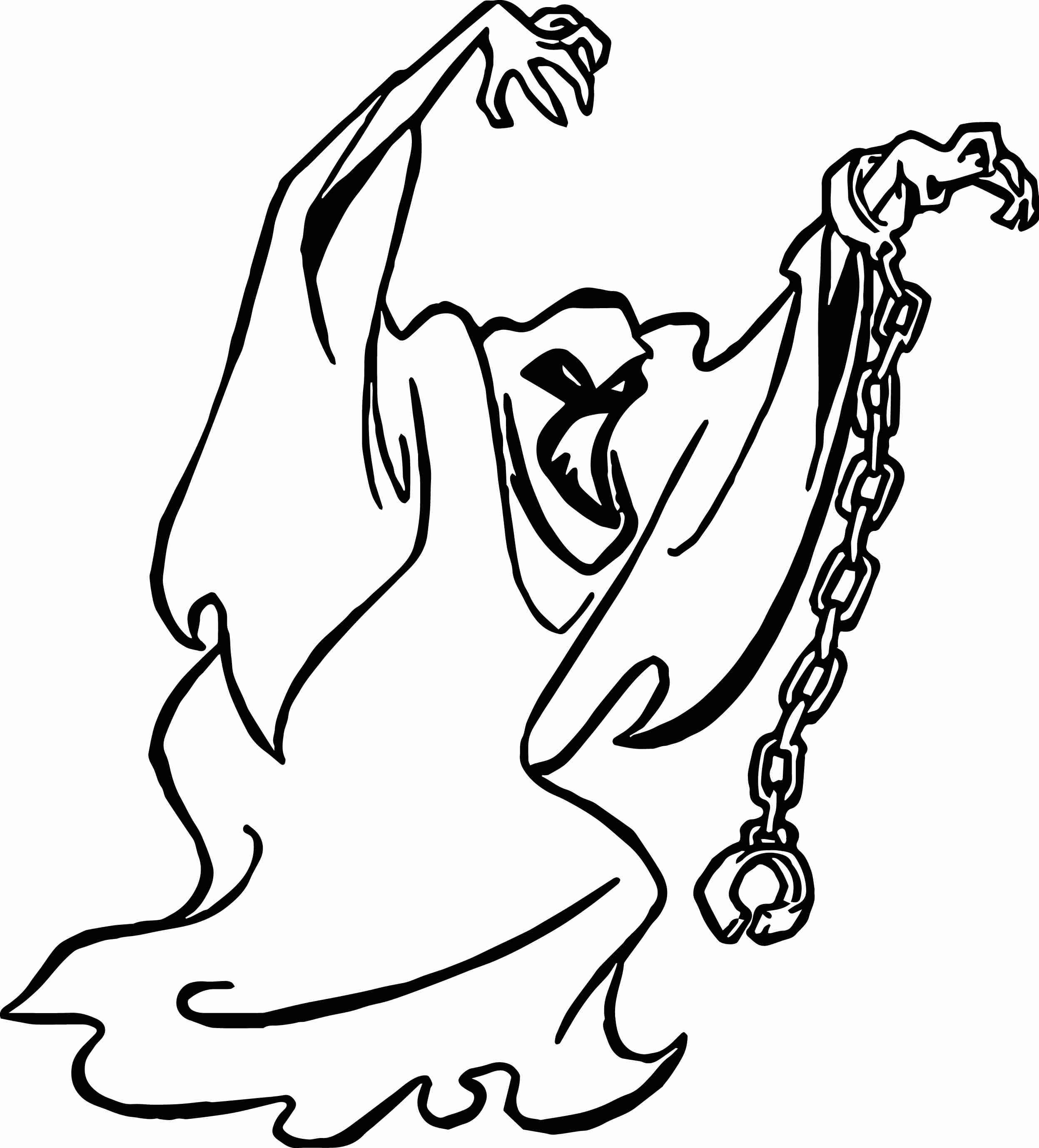 2495x2757 Casper Sweet Ghost Coloring Page Free And Pages Cartoons Printable