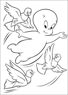 236x330 Casper The Ghost Coloring Pages Ghost Coloring