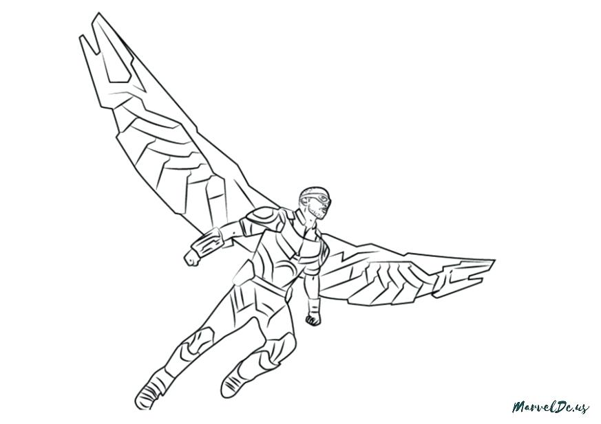 873x617 Coloring Pages Disney Princesses The Latest Trend In Marvel Falcon