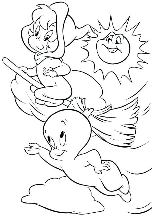 500x713 Casper Coloring Pages