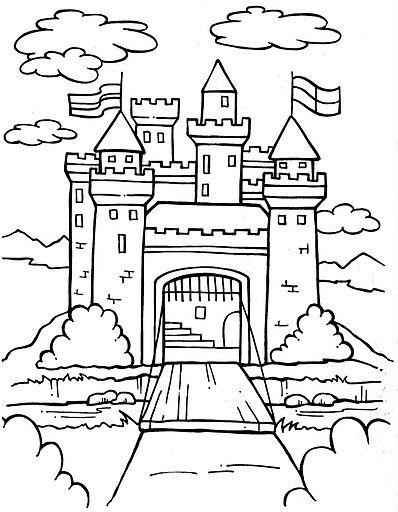 398x512 Coloring Pages Castle