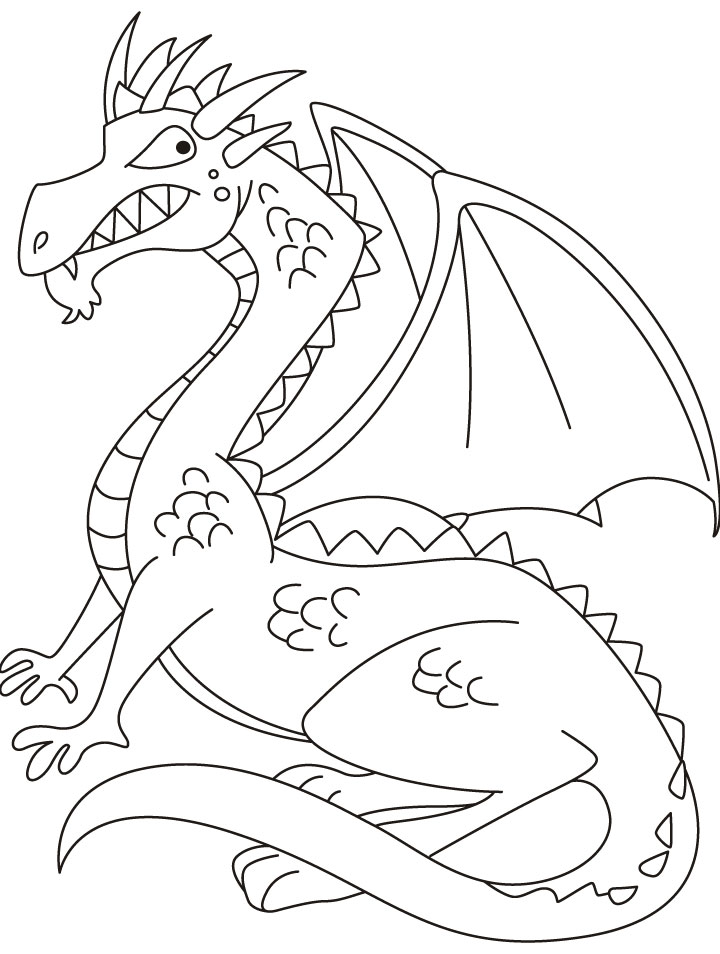 720x954 Dragon Coloring Pages