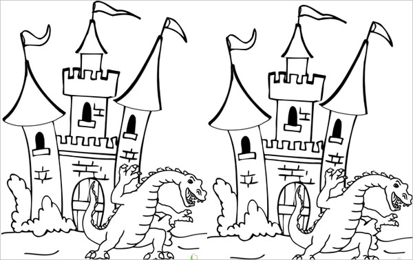 600x378 Dragon Coloring Pages