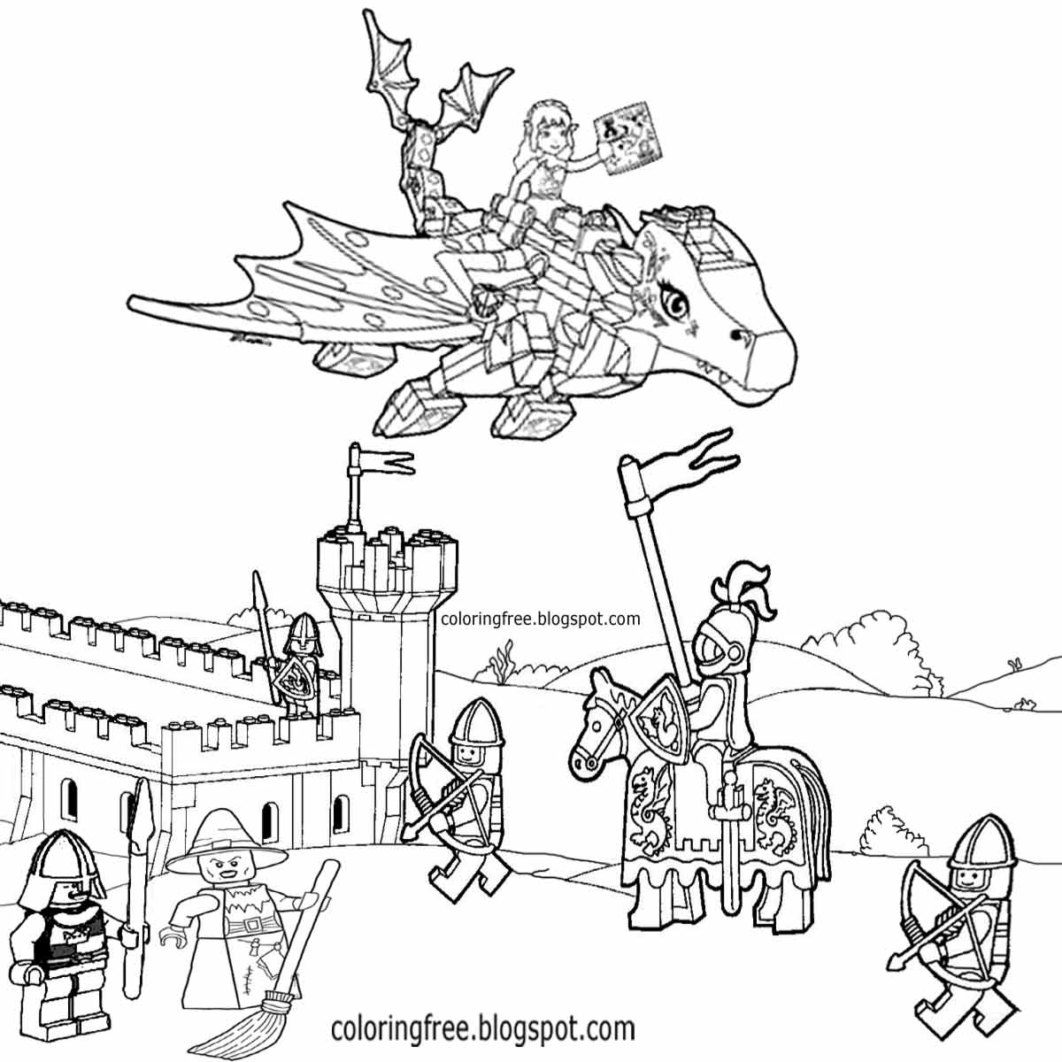 1200x1200 Sizable Castle And Dragon Coloring Pages Fresh