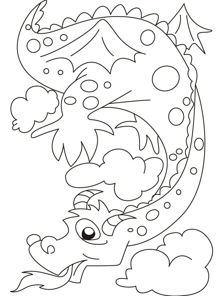 720x954 The Fire Emitting Dragon Bewares Of It Coloring Pages Coloring