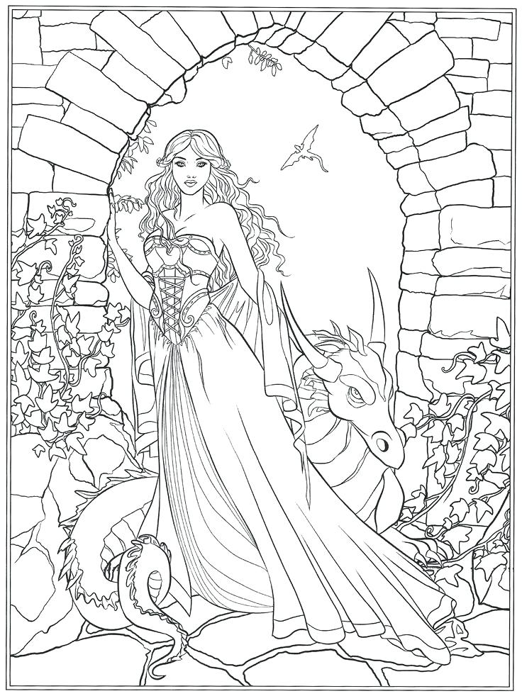 736x982 Coloring Coloring Pages Fantasy