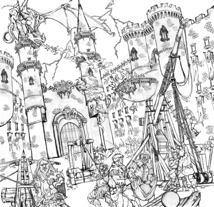 Castle Coloring Pages For Adults At Getdrawings Com Free For