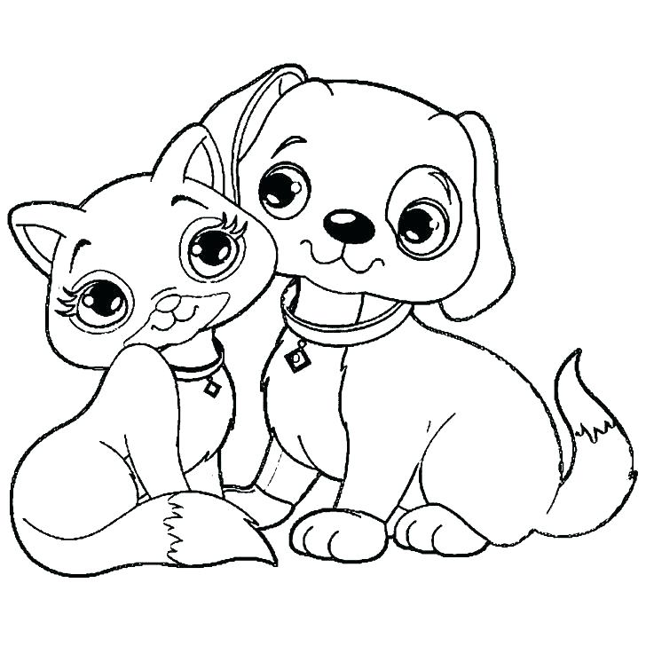 Cat And Dog Coloring Pages To Print At Getdrawings Free Download
