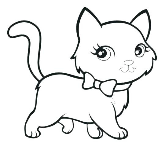 Cat And Kitten Coloring Pages At Getdrawings Free Download