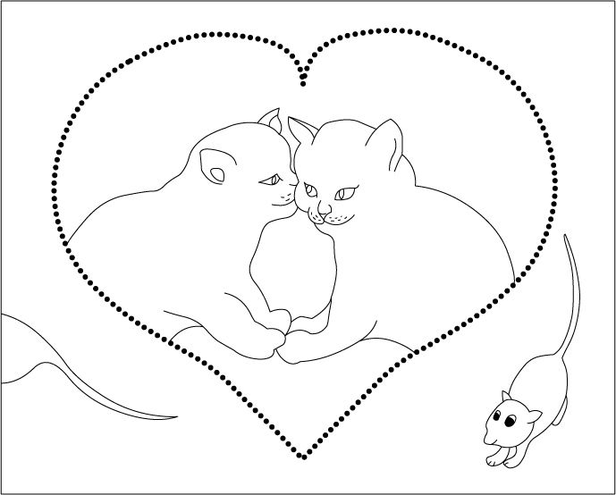 689x554 Cat Mouse Coloring Pages Embroidery Embroidery