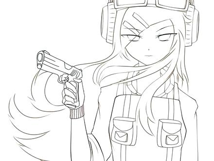 440x330 Anime Girl Coloring Pages Anime Coloring Pages Anime Coloring