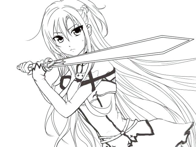 640x480 Anime Girl Coloring Pages Anime Girl Coloring Pages Good Cool
