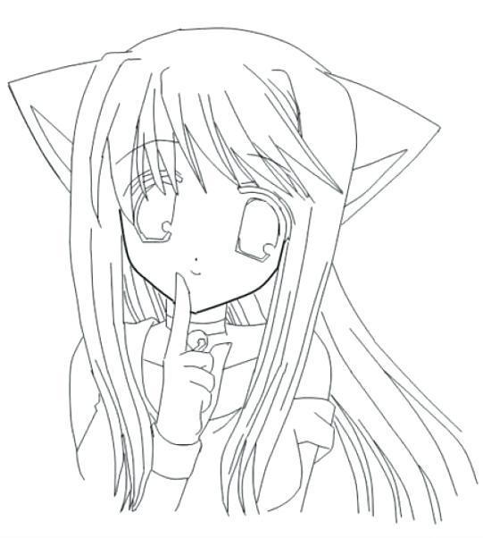541x602 Anime Girl Printable Coloring Pages Free Coloring Book Picture