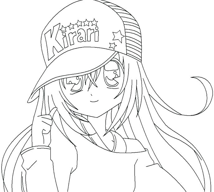 687x616 Coloring Pages Girls Cute Coloring Pages Medium Size Of Anime Girl