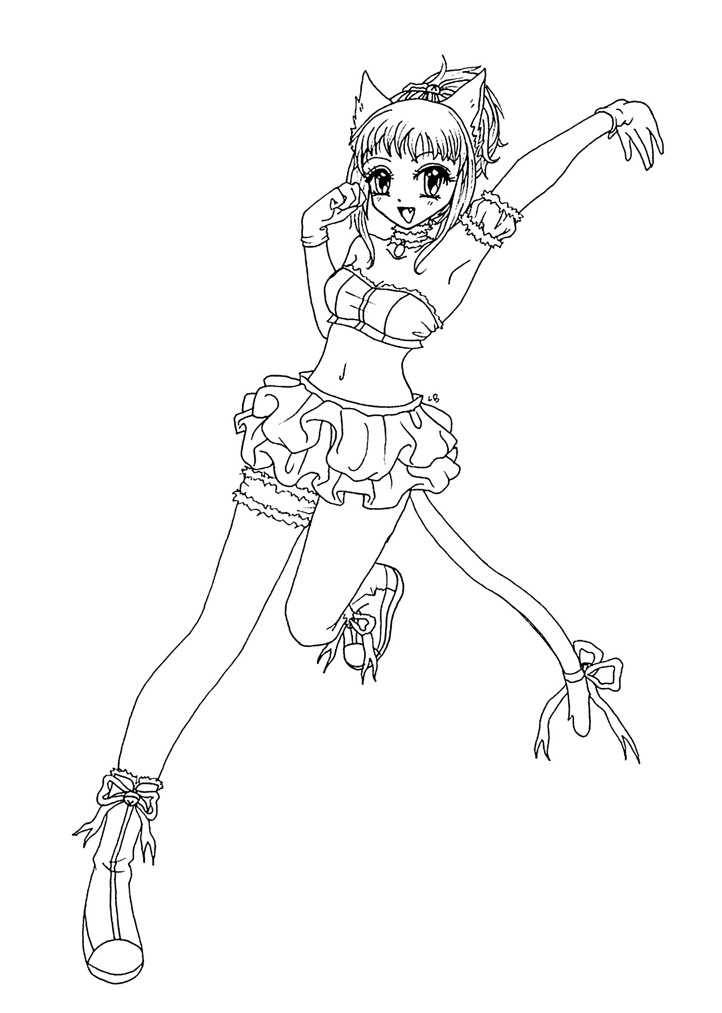 1483x2079 Anime Cat Girl Coloring Pages Fresh In Cat Girl Coloring Page