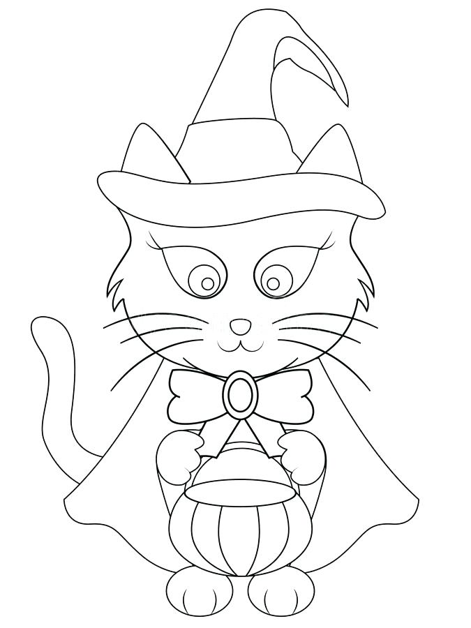 675x900 Halloween Cats Coloring Pages Download Cartoon Cat Coloring Page