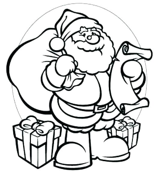 520x572 Santa Claus Coloring Pages Free Printables Ring Pages Free Online