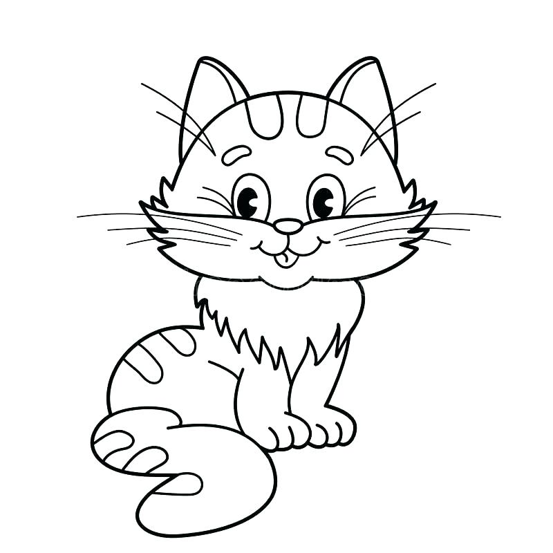 800x800 Cartoon Cat Coloring Pages Cat Coloring Book Pages Cartoon Cat