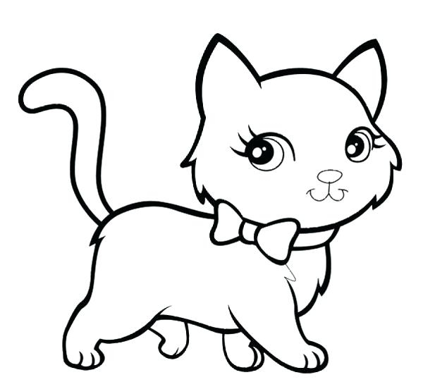 600x542 Cartoon Cat Coloring Pages Cat Coloring Pages