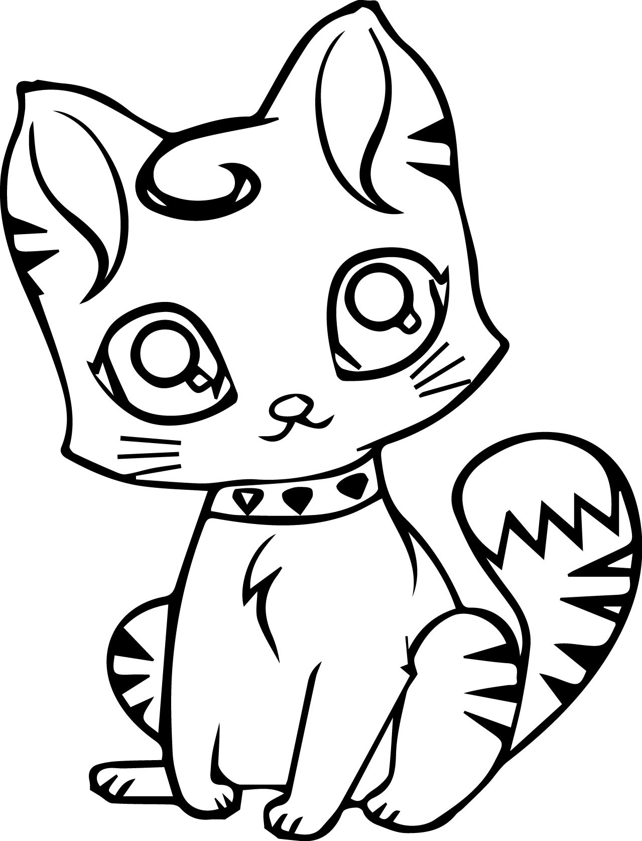 1279x1674 Cute Cat Coloring Pages