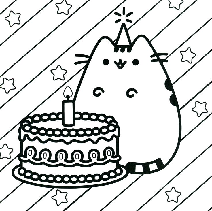 736x732 Pusheen Coloring Pages To Print And Coloring Book The Cat