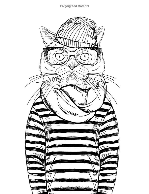 Cat Coloring Pages Adults at GetDrawings.com | Free for ...