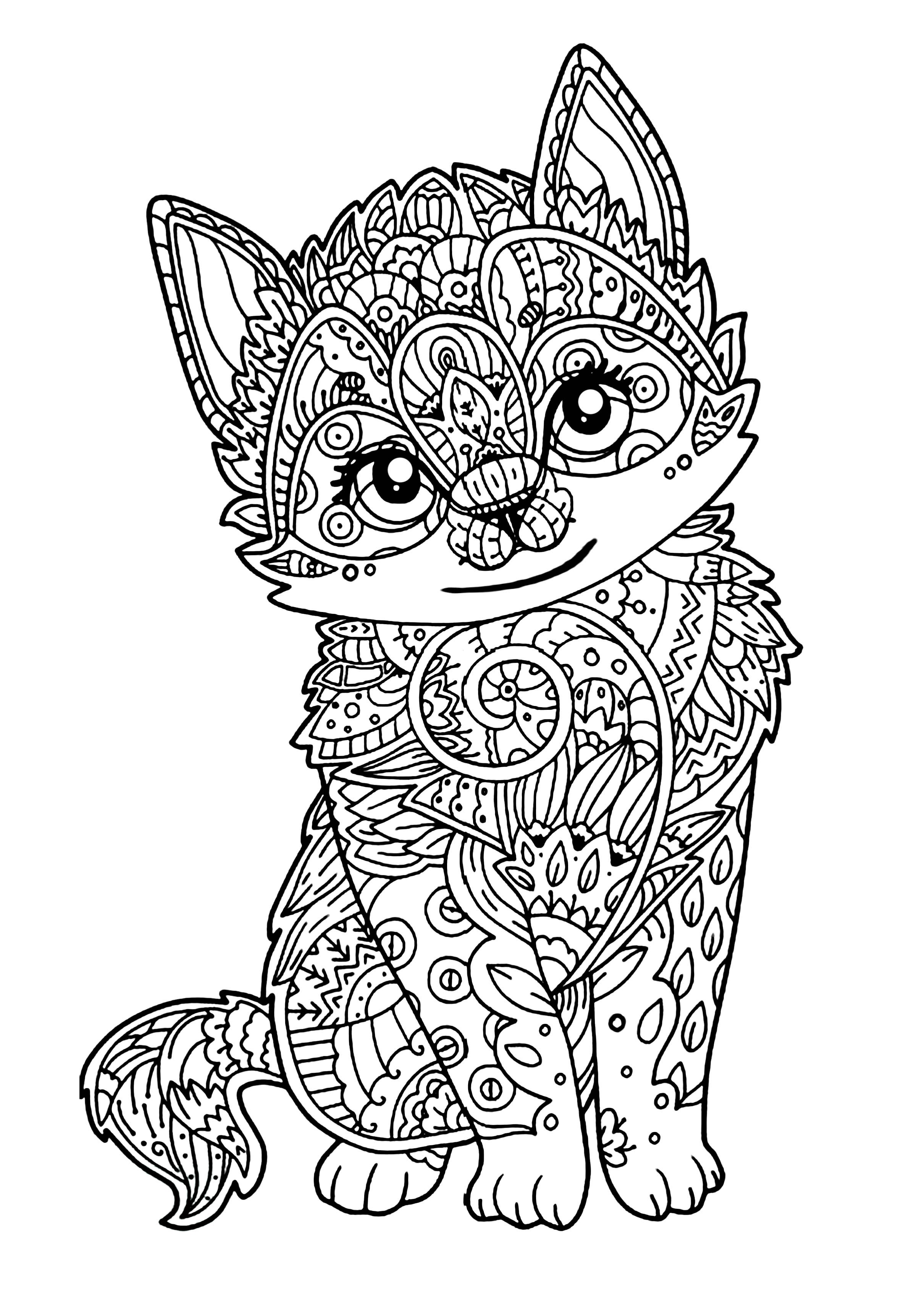 2420x3416 Fresh Mandala Coloring Pages Cat Fresh Cat Coloring Pages
