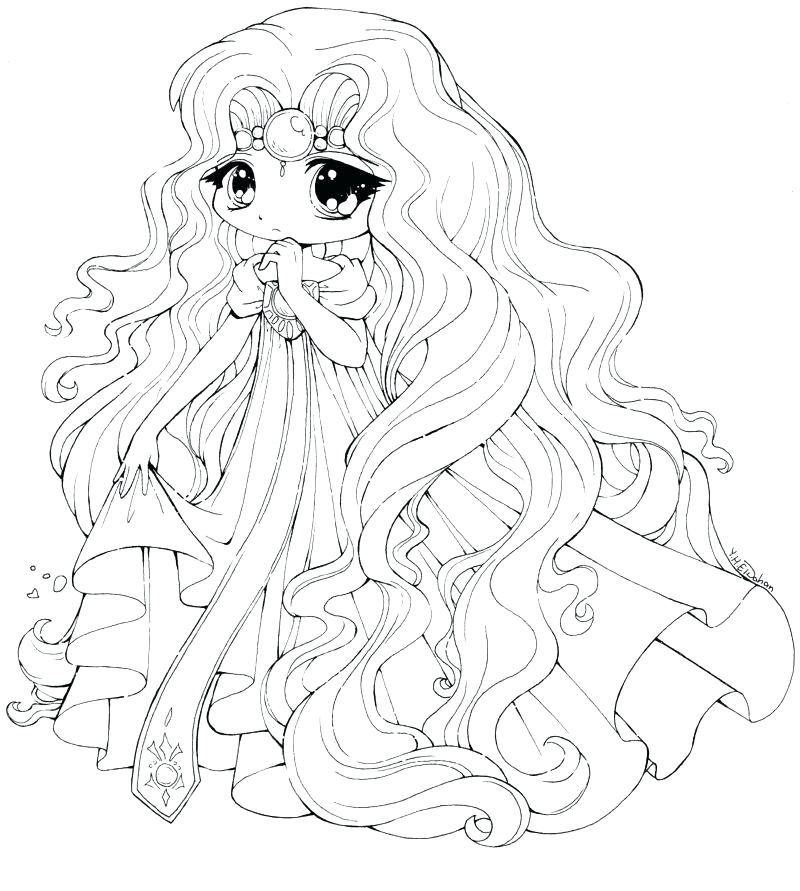 800x891 Cute Anime Cat Coloring Pages Princess