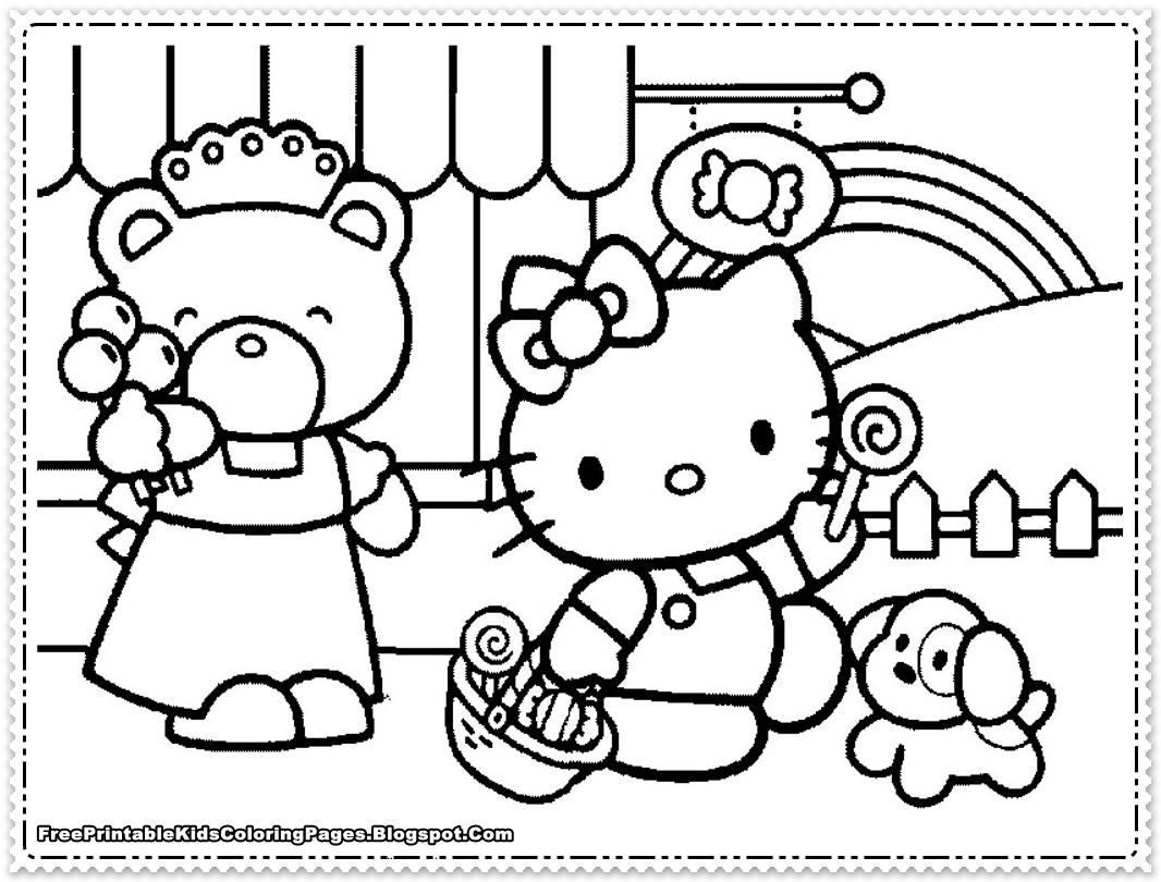 1066x810 Hello Kids Coloring Pages Beautiful Hello Kitty Coloring Pages