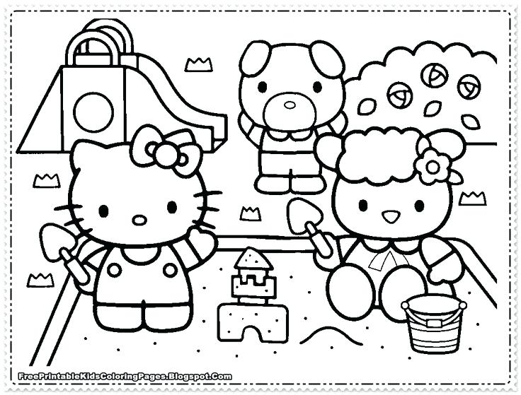 736x559 Hello Kitty Coloring Pages For Girls Free Printable Kids The Best