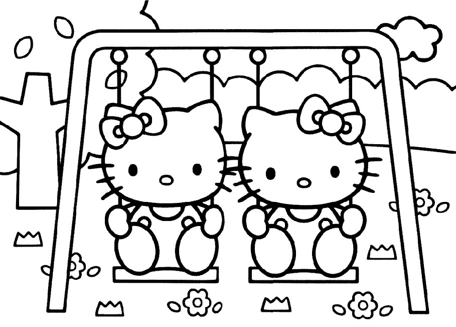 909x651 Hello Kitty Coloring Pages Games Printable