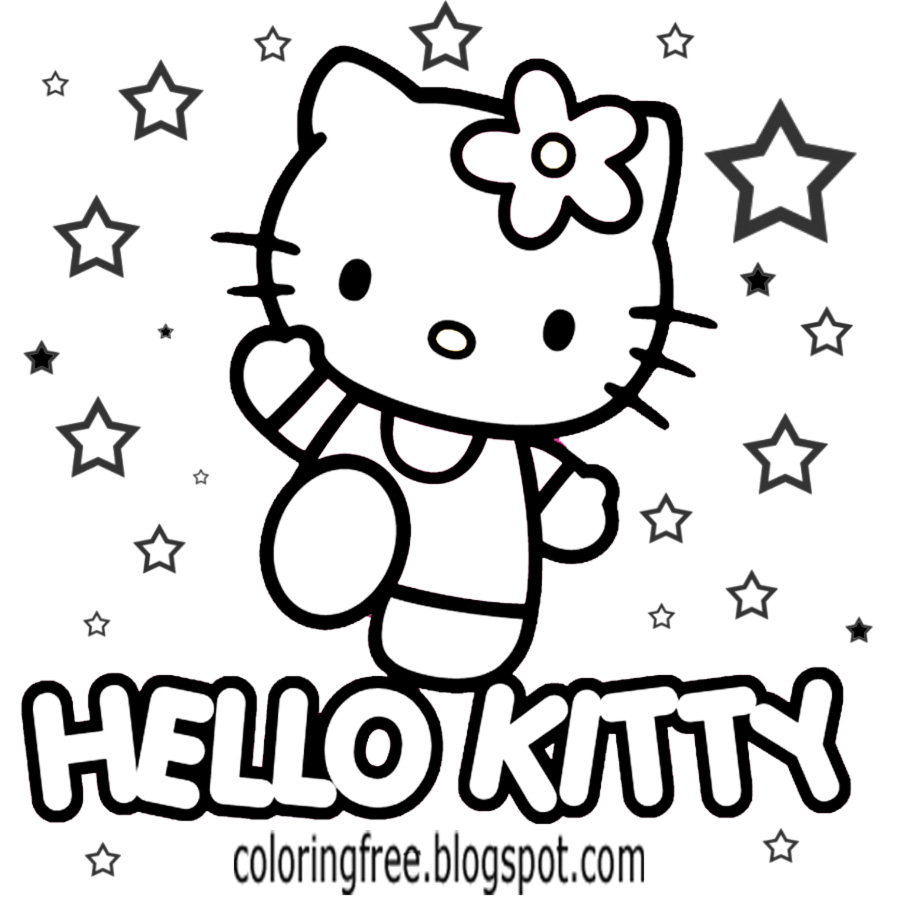 900x900 Lets Coloring Book Hello Kitty Coloring Sheets Free Cute