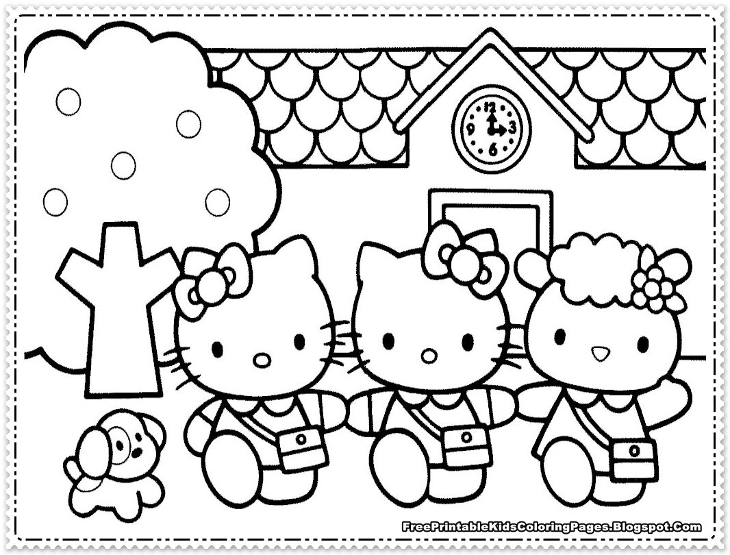 1066x810 Shocking Hello Kitty Coloring Pages For Printable Kids To Print