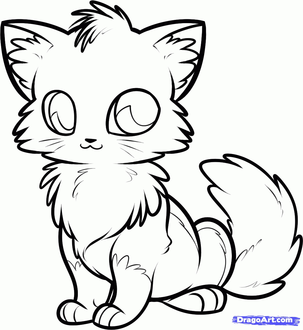 1047x1142 Unique Cute Anime Cat Coloring Pages Gallery Free Coloring Pages