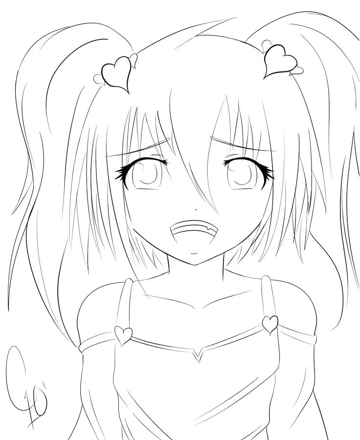 736x900 Anime Coloring Pages Girl Anime Fox Girl Coloring Pages Anime Girl