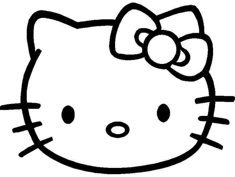 825x623 Cartoon Hello Kitty Coloring Sheets Free Printable For Girls Boys