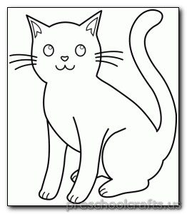 262x300 Kitten Coloring Pages