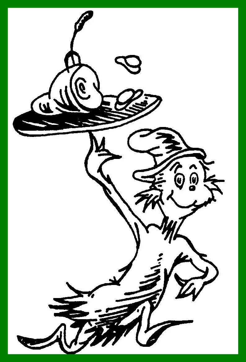 794x1166 The Best Cat In Hat Coloring Pageskids Net Pics For Pages