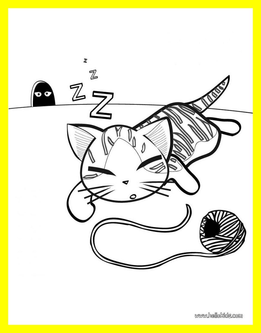 874x1114 Cat Coloring Pages For Preschoolers