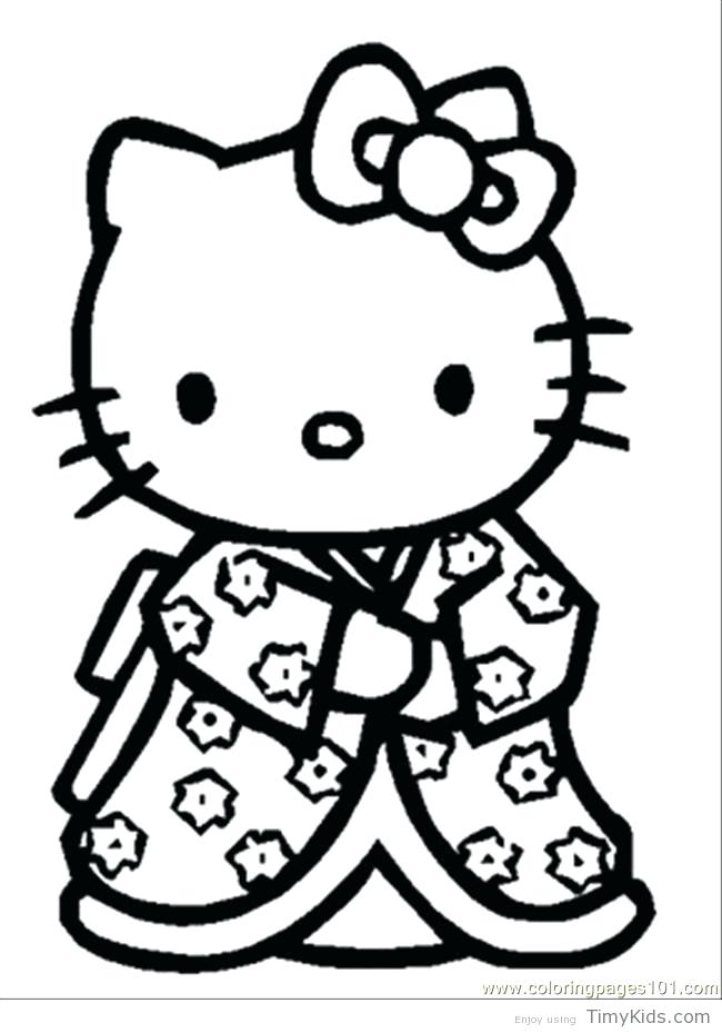 650x929 Kitty Color Pages Hello Kitty Coloring Pages Free Printable Kitty