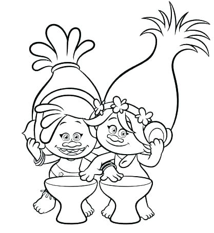 417x455 Poppy Coloring Page Coloring Pages Poppy Coloring Page From Trolls