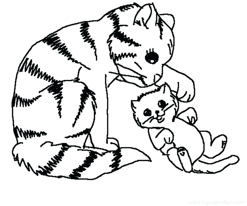 Kitten Christmas Cat Coloring Pages.Cat Coloring Pages Free Printable At Getdrawings Com Free