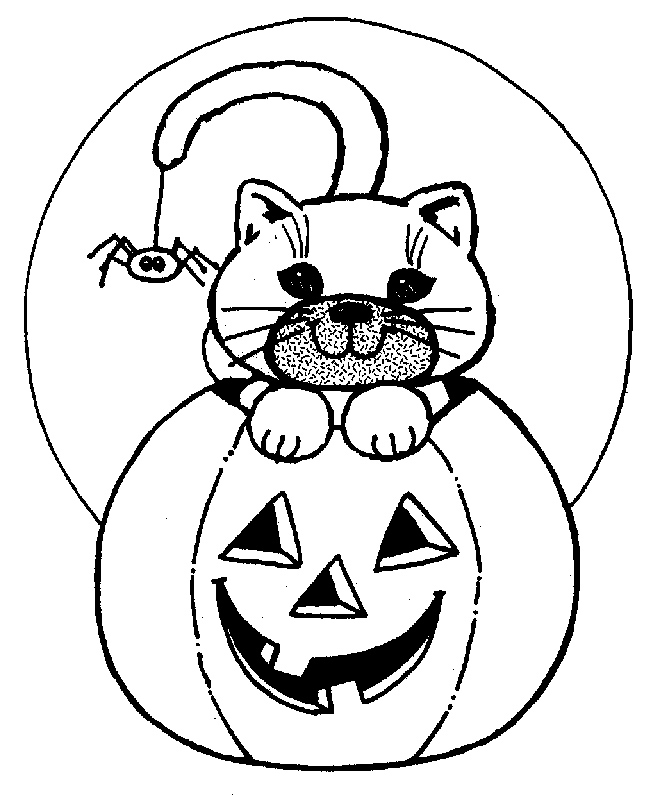 646x797 Halloween Cat Coloring Pages