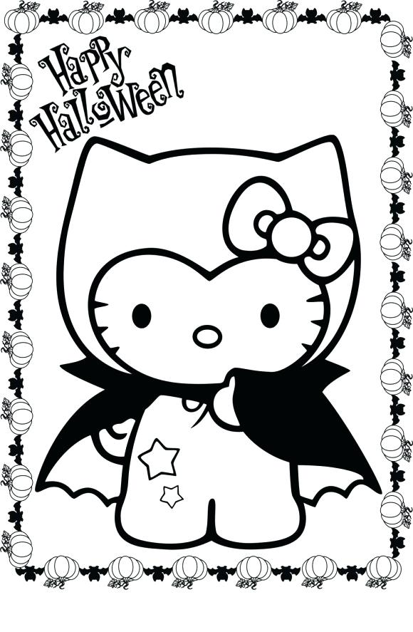 580x887 Hello Kitty Halloween Coloring Pages Hello Kitty Coloring Pages