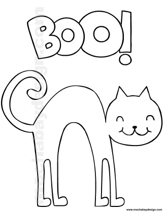 325x420 Halloween Cat Coloring Pages Printable Halloween Coloring Page