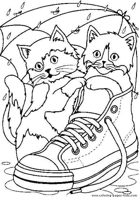Cat Coloring Pages Kids