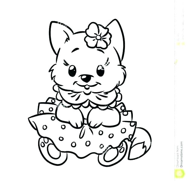 618x597 Free Puppy And Kitten Coloring Pages Kids Coloring Printable Cat