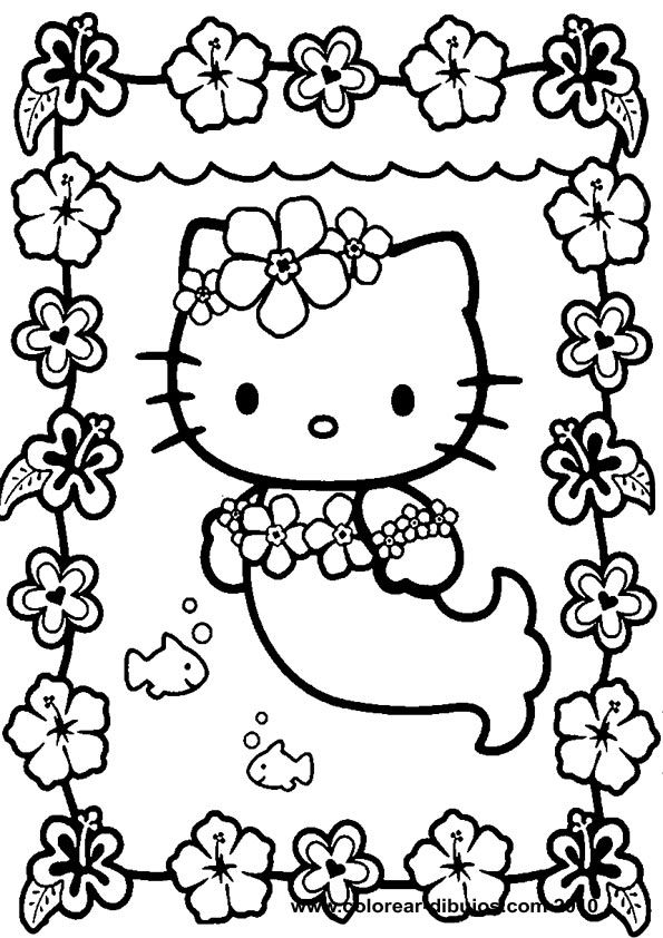 595x842 Hello Kitty Coloring Pages Hello Kitty Printable Coloring Drawings